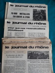 Les Archives départementales et métropolitaines exposeront un des journaux que la CFT, le PSU et l'Agel-UUnef ot publié quotidiennement pendant cinq semaines durant la grève des quotidiens régionaux (© Pierre Nouvelle).