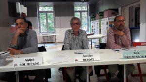 Au cours de la table ronde qui a présidé à la sortie du livre, le sociologue Antoine Bevort a resitué les jalons de l'histoire de la confédération CFDT entre 1968 et 2018 (© Pierre Nouvelle).