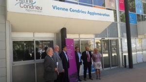 L'implanttion de l'entreprise Fives Intralogistics à Chasse-sur-Rhône témoigna de la vitalité du territoire du Nord-Isère (© Pierre Nouvelle).