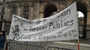 Parallèlement au mouvement des cheminots, des usagers continuent de manifester leurs inquiétudes quant à la volonté déconmie de la SCF, comme à la Croix(Rousse à Lyon, où l'agende est toujours menacée de fermeture (© Pierre Nouvelle).