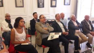 A côté de l'accueil de différentes conférences de presse, un Club de la presse organise aussi des débats tel celui sur la presse en mai 68 à Lyon le 30 mai 2018 (© Pierre Nouvelle).