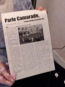 Madeleine Delessert avait le souci de la transmission. Après avoir parlé avec elle de ses engagements militants, sa nièce, alors lycéenne avait rédigé un journal alors sur mai 68 © Pierre Nouvelle).