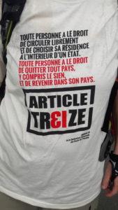 Quitter sa famille, ses ami.e.s, son pays ,e se fait jamais de gaieté de cœur, et pour beaucoup de mighrants la France reste la patrie des Droits de l'Homme (© Pierre Nouvelle).