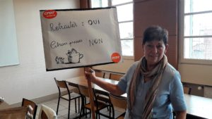 Les retraité.e;s souhaitent vivre sans être préssurés, tel était le message déployé le 4 octobre (© Pierre Nouvelle)
