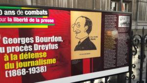 Critique dramatique, grand reporteur au Figaro, Georges Bourdon, fut aussi un militant de la cause du capitaine Dreyfus et un des fondateurs de la Ligue des droits de l'homme (© DR/SNJ).