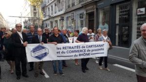 manif retraités 18 10 2018 Lyon 002 retraités commerce et artisanat
