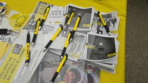 A la veille du 70e anniversaire de la Déclaration universelle des droits humains, Amnesty international invitait la population à appoter son soutien à dix défenseurs de cette cause et actuellement soumis à la répression de nombreux états (© Pierre Nouvelle).