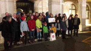 Pas de baisse dans la mobilisation du mouvement Nous voulons les ciquelicots à Vienne en cette soirée du 4 janvier 2019 (© Pierre Nouvelle).