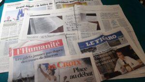 Alors que le président de la République a écrit aux Français par le biais de la presse écrite, sur les territoires, il n'en était pas question ce lundi soir