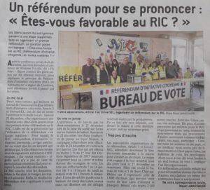 Manifestement, ce référendum était attendu et les votants n'ont pas manqué dès la première journée(© DR/Le Progrès).