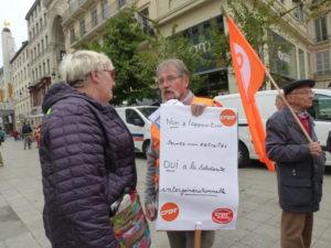 """Le 4 octobre dernier, à l'initiative de la CFDT, les retraités étaient dans la rue, notamment pour demander que leurs pensions suivent l""""augmentation des salaires (© Pierre Nouvelle)."""