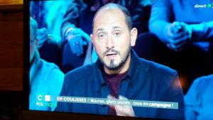 Dimanche 20 janvier, sur France 5, l'émission C Politique entièrement consacrée aux Gilets jaunes a fait halte à Saint-Clair-du-Rhône où elle a relaté la première votation citoyenne (© Pierre Nouvelle).