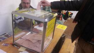 Comme du 12 au 14 janvier, les habitants de Saint-Clair-du-Rhône (Isère) sont vebnus se prononcer lors d'une votation citoyenne inédite (© Pierre Nouvelle).