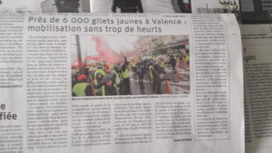 Le calme qui a régné à Valence sera-t-il de mise samedi 9 février 2019 entre Rhône et Saône (© Pierre Nouvelle).