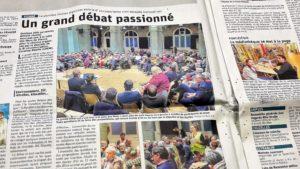 Sortis des ronds points et de leur réunion hebdomadaire, les Gilets jaunes viennois ont aussi participé au frand débat proposé par la députée LREM Caroline Abadie (© Pierre Nouvelle).