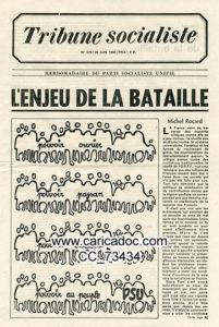 Comment cette revendication quincagénaire pourrait-elle etre réintroduite comme le voulait le PSU en 1968 (© DR/Caricadoc).