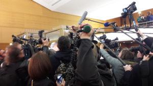 la presse a joué un rôle non négligeable dans des dossiers récents comme lors du procès de Mgr Barbarin (© Pierre Nouvelle).