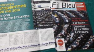 La CFDT partage avec l'Europe une histoire commune, et il est naturel que le journal national des retraités a consacré son numéro de mars-avril 2019 à l'avenir des 28 pays (© Pierre Nouvelle).
