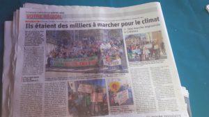 Réunir plus de 500 personnes dans les rues de Vienne en soutien à la lutte pour l'avenir de la planète est un chiffre qui n'avait pas été atteint depuis la manifestation de soutien à Charlie Hebdo en janvier 2015 (© Pierre Nouvelle).