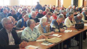 Une centaine de militant.e.s venu.e.s de toute la région Auvergne-Rhône-Alpes ont participé avec intérêt à cette journée de formation et d'échanges sur les questions européennes (© Pierre Nouvelle).