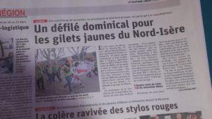 De Givors, Morestel, La-Tour-du-Pin, ils ont rejoint leurs camarades viennois pour attester que leur mouvement existait toujours (© Pierre Nouvelle).