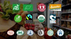 Les logos de productions biologiques et équitables sont multiples et il est nécessaire d'^tre informés pour s'y retrouver (© DR).