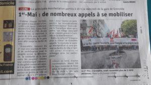 De la manifestation de rue à la brocante revendicative, tel est le lot du département de l'Isère pour ce 1er mai 2019 (© DR LDL/Pierre Nouvelle).