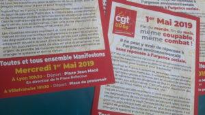 Pour la CGT du Rhône, deux défilés seront organisés pour ce 1er mai 2019 (© CGT/Pierre Nouvelle).