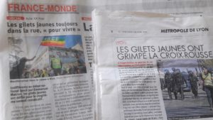 Cinq mois après le début du mouvement, les Gilets jaunes se retrouvent toujours chaque samedi dans les rues (© Pierre Nouvelle).