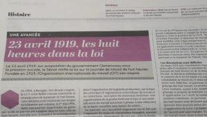 Il ya un siècle, l loi venait couronner près de 75 ans de luttes ouvrières (© Pierre Nouvelle).