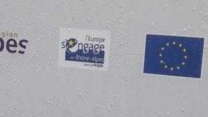 par le biais de différents fonds structurels, l'Europe est présent dans la vie quotidienne de chacun, comme ici à Vienne pour le financement d'un local vélo à la gare SNCF (© Pierre Nouvelle).
