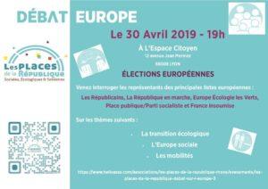 Pour la CFDT du Rhône, mardi 30 avril marquera le second rendez-vous pédagogique et citoyen de la campagne des européennes (© DE/UTI CFDT Lyon-Rhônee).