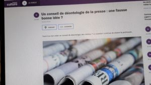 Chaque semaine, le samedi à 7h45, La Fabrique médiatique fait dialoguer sur France Culture des professionnels de l'info ( © Pierre Nouvelle ).