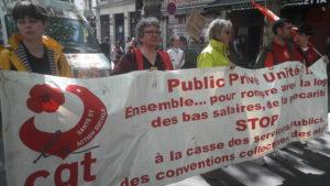 Contre les projets gouvernementaux les fonctionnaires territoriaux, natioanux ou hospitaliers seront en grève jeudi 9 mai 2019 ( © Pierre Nouvelle ).