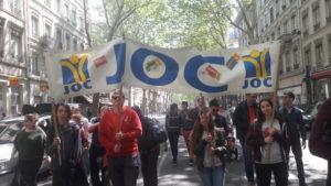 La Joc incite les jeunes qui la rejoignent à s'engager dans les organisations syndicales et politiques. on trouve en son sein des adhérents de la CGT, comme de la CFDT ou de l'Unef ( © Pierre Nouvelle ).
