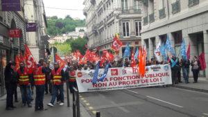 L'unité d'action était de règle sur le plan national comme local pour les fonctionnaires opposés au projet de loi du gouvernement ( © Pierre Nouvelle ).