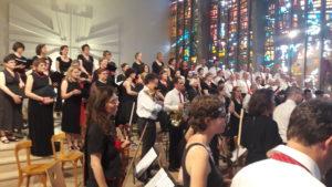 Cent choristes et l'orchestre symphonique des HCL ont interprété des Psaumes de Mendelssohn ( © DR ).