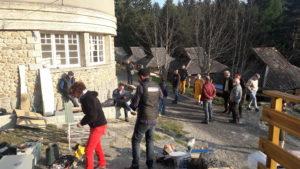 Pour faire vivre le Camp Joubert et le maintenir en état, la part des bénévoles de l'association est irremplaçable ( © Pierre Nouvelle )