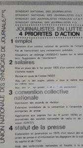 L'action conjointe et de longue haleine de syndicats de journalistes CFDT, CGt, Fo et SNJ au sein de l'Union nationale des syndicats de journalistes, a conduit à l'adoption de la loi Cressard ( © Pierre Nouvelle ).