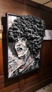 Avec ce portrait d'Angela Davis, la tonalité des œuvres de Doud est donnée : place à la fraternité ( © Pierre Nouvelle ).