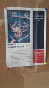 Les Festival de cinéma italien d'Annecy est une des initiatives que soutient l'Institut culturel italien de Lyon © Pierre Nouvelle ).