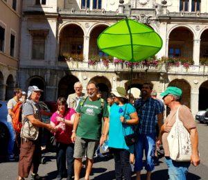 Dans la foulée du Village et la marche Alternatiba, s'est déroulé à Vienne (Isère) le premier rendez-vous de la marche pour le climat ( © Pierre Nouvelle ).