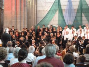 Au terme de plus d'un an de préparation, les quatre ensembles musicaux et vocaux ont présenté trois psaumes majeurs du compositeur romantique ( © D. Cullafroz).