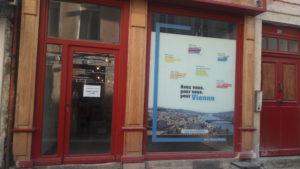 Thierry Kovacs, candidat à sa réelection à la responsabilité de maire de Vienne a ouvert son local de campagne début octobre 2019 © Pierre Nouvelle ).