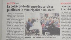 la qiotdien Le prigrès a rendu compte de cette réunion citoyenne dans son édition du 19 octobre 2019 ( © DR/Pierre nouvelle ).