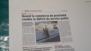 Le 8 octobre, le quotidien régional Le Progrès annonçait la nouvelle déflorée deux jours plus tôt lors du conseil municipal (© Pierre Nouvelle ).