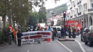 Le 25 septembre dernier, les syndicats CGT, FSU et Solidaires étaient dans les rues d'AZnnecy pour protester contre la réforme des retraites ( © Pierre Nouvelle ).