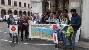 A Vienne, un an après le premier rendez-vous, la mobilisation se poursuit ( © Pierre Nouvelle ).