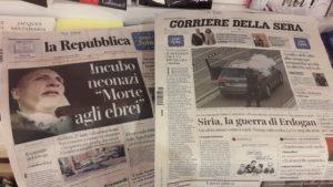 La presse unanimé s'est élévée contre l'attentat antisémite de La Halle ( © Pierre Nouvelle ).