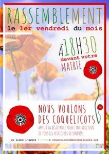 Dans plus de 500 communes de France, le mouvement Nous voulons des coquelicots réunira ses supporteurs qui proposeront d'approuver la pétition nationale en marche vers un million de signatures ( © DR ).